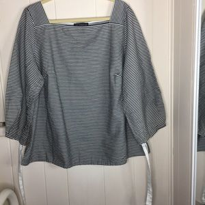 Eloquii stripped black and white top size 18